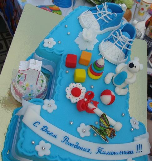 Фото тортов из мастики на 1 годик для девочек с мастикой