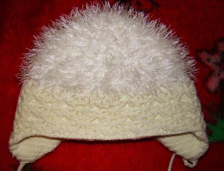 шапка с пандой как связать.