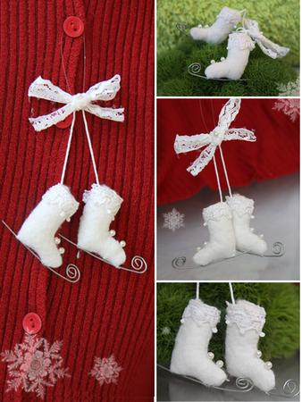 Елочные игрушки своими руками коньках