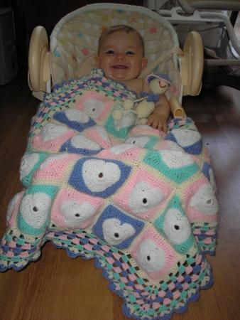 Вязание крючком одеяло для кукол