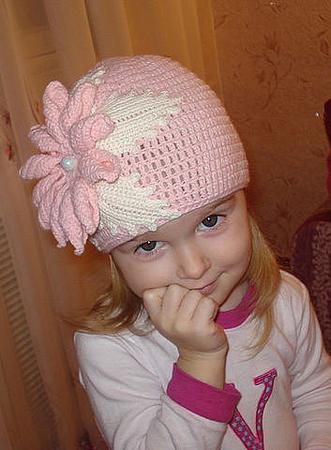 летняя шапочка для девочки крючком схема. вязание крючком летних шапки.