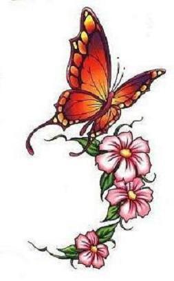 """Оригинал схемы вышивки  """"Бабочка и цветы """".  Бабочка и цветы, салфетка, бабочка, цветы."""