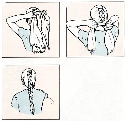 Обратный колосок плетение