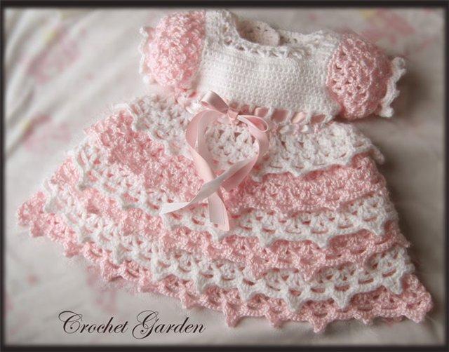 Вязание платьев малышкам