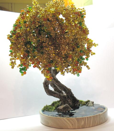 Делаем из бисера: Деревца-1 ФОТО #1.