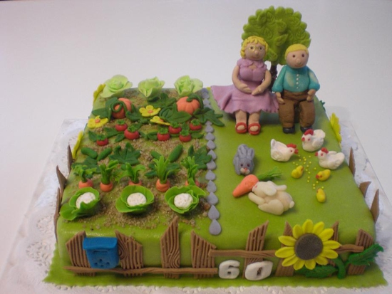 Торт где дед и баба из мастики фото